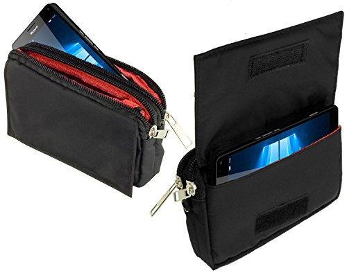 yayago -Travel-Hülle- Quertasche Hülle Tasche in Schwarz für Microsoft Lumia 950 XL