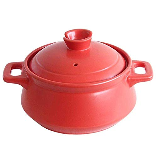 Eintopf Ton Auflauf Keramik Auflauf Keramik Auflauf - Energieeffizient Langlebig Gesund Kapazität 2500ml 2500ml Kapazität_Rot