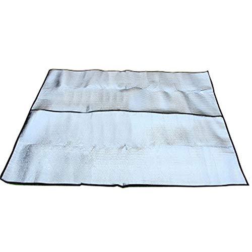 WJQ 2 doppelseitige Aluminiumfolie feuchtigkeitsbeständige Auflage doppelseitige Wasserdichte faltende Picknickdecke Outdoor Camping Ausrüstung ist Nicht zu tragen