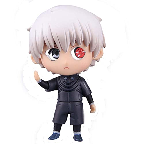 ORNAAA Anime Figure Tokyo Ghoul: Kaneki Ken Nendoroid Action Figure Model Doll Toy Statue Q Version Anime Cartoons Game Characters Anime Collectible for Fans Desktop Ornaments Gifts