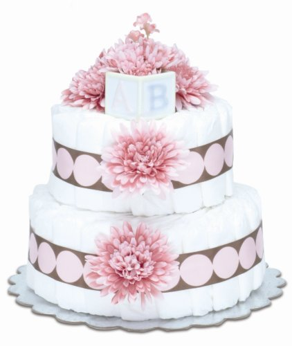 Bloomers Baby Diaper Cake Modern Pink Mums 2-Tier