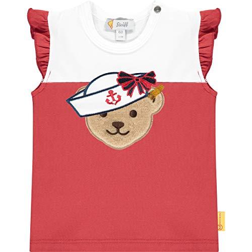 Steiff Set Hose+T-Shirt Juego de pantalón y Camiseta, Color Rojo, 86 cm para Bebés