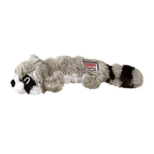 KONG – Scrunch Knots Raccoon – Innere Geknotete Seile und Minimale Füllung für Weniger Unordnung – Für Mittelgroße/Große Hunde