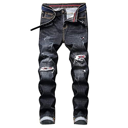 CCLYQ Pantalones de vestíbulo RPIPE Pantalones de Comodidad de la Calle Retro Street Casual Pantalones de Mezclilla Delgados de la Moda Masculina Pantalones Casuales 1 30