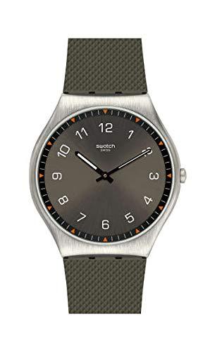 Swatch Reloj Analógico para Hombre de Cuarzo Suizo con Correa en Goma