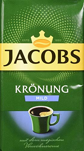 Jacobs Filterkaffee Krönung Mild gemahlener Kaffee, 500g