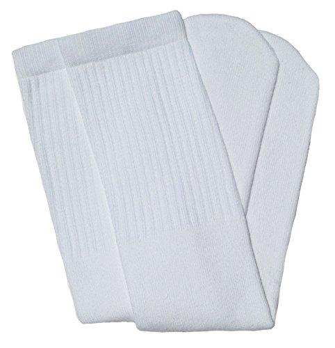 skatersocks 30 Inch Tube Socken Damen Overknee Kniestrümpfe weiß