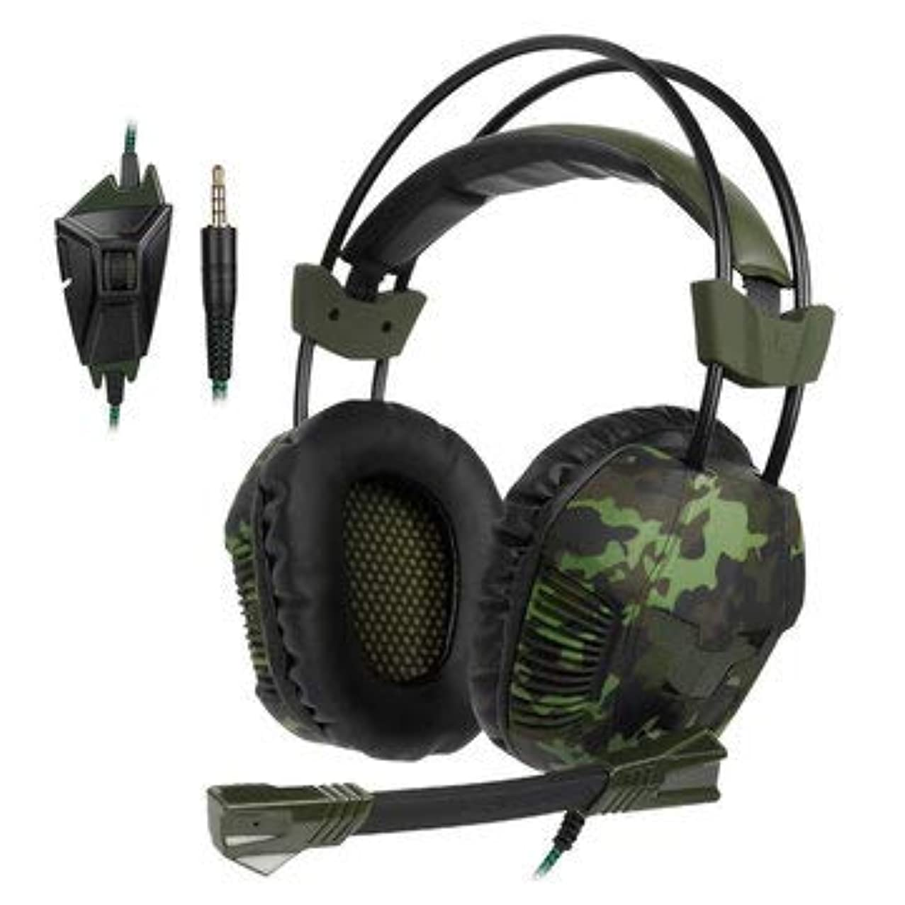SA-921 PLUS Stereo Gaming Headphone Headset with Microphone Line Control - Earphones & Speakers On-ear & Over-ear Headphones