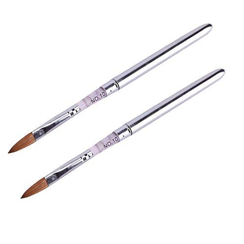 Sodial Lot de 2 pinceaux pour nail art en acrylique Taille 10