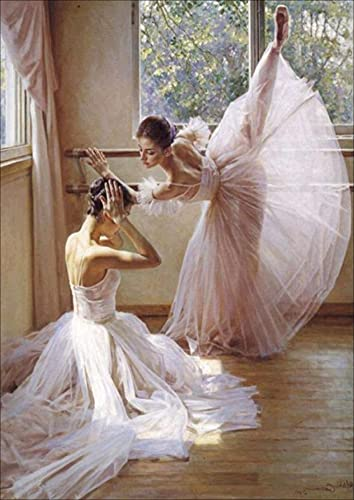 JISHSHAY 5d pintura diamante, ballet 5d diamond painting taladro completo Cristal diamante...