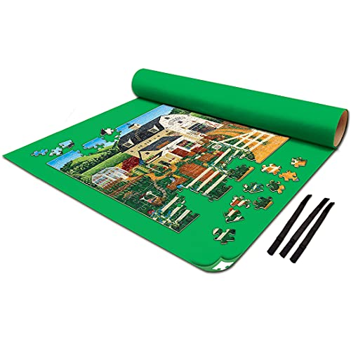 MasterPieces Accessories - Jigsaw Puzzle Roll-Up Mat & Stow Box, Jumbo 48