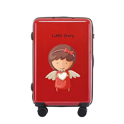 Moda Maleta con Ruedas Equipaje de Viaje Ruedas giratorias Mute TSA Lock PC Carry-ons Embarque Equipaje, Hada