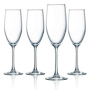 ARC International Luminarc Cachet White Wine Glass, 12-Ounce, Set of 4