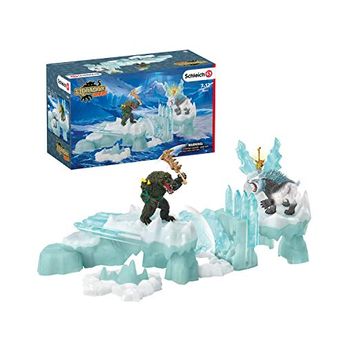 Schleich Eldrador Creatures Monster Attack on the Ice Fortress Battle 6-piece Playset for Kids Ages 7-12