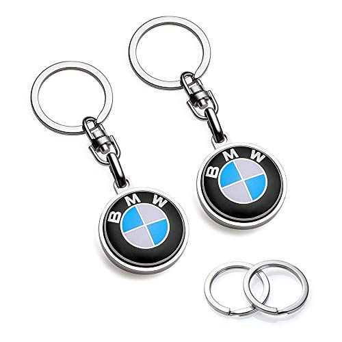 YANGYI Compatible for BMW Keychains 3D Car Logo Key Chain Key Ring Accessories  Suit for BMW 1 3 5 6 Series X5 X6 Z4 X1 X3 X7 7Series Business Gift Birthday Present for Men and Woman(2 Pack)