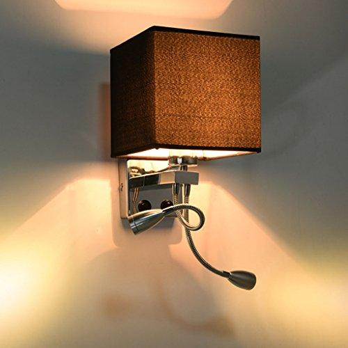 Applique Murale Moderne Minimaliste Hôtel Chambre Murale Lampe de Chevet Lampe de Mur de Rocker (Couleur : D, Taille : Double Head)