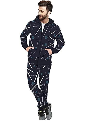 Blive Men's Sports Track suit | Striped Track suit| Zipper Track suit|
