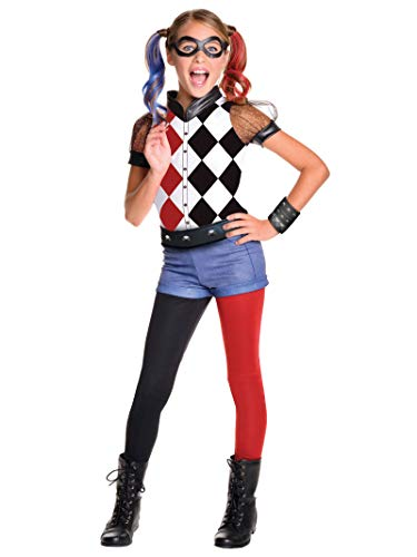 Rubies 620712 DC Comics - Disfraz de Harley Quinn licencia oficial para niña, infantil talla 8-10 años - L