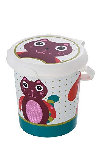 Rotho Baby Design Poubelle à Couches Oops Style! , Anneau de Retenue pour Sacs Hygiéniques, 11L, À partir de 0 Mois, StyLe!, Blanc, 202150001AW
