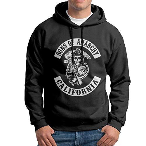 huatongxin Sons of Anarchy Hoodies für Männer Custom Fleece Pullover Hoodie Schwarz