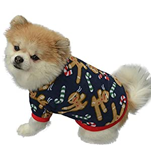 walaka Vetement Chien Petite Taille Hiver Chaud Chihuahua Bouledogue Francais Yorkshire NoëL Chaud Hiver Pull