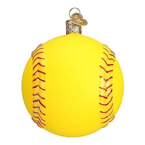 Old World Christmas 2020 Christmas Ornament Softball, 3.5