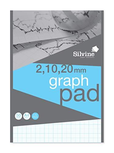 Sivine Graph Block, A4, 50 Blatt hochwertiges Papier 90 g/m² 2-10-20 mm A4
