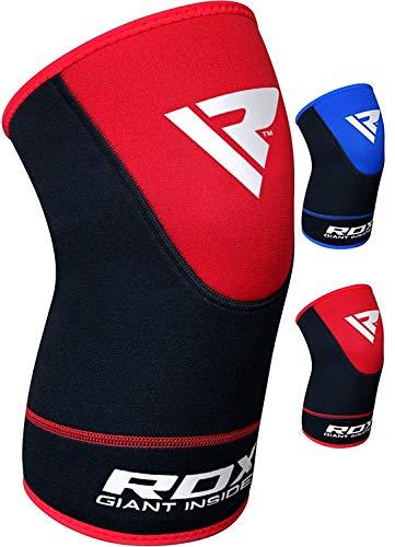 RDX Ginocchiera MMA Fitness Tutore Ginocchio Support Boxe Fascia Ginocchiere Pallavolo Protezione (Venduto Come Singolo Elemento)