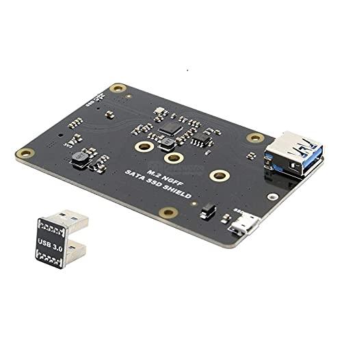 DIY Kit Module X860 M.2 NGFF 2280/2242/2260/2230 SATA SSD NAS Storage Erweiterung Board mit USB 3.0 Jumper Fit für Raspberry PI Anzeige Zubehör