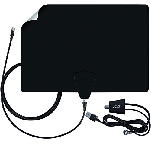 Antennas Direct ClearStream FLEX Amplified TV Antenna, 50+ Mile Range, UHF/VHF, Multi-Directional, Grips to Walls, USB In-Line Amplifier, 12 ft. Coaxial Cable, 4K Ready, Black/White/Paintable - FLEX. Buy it now for 50.99