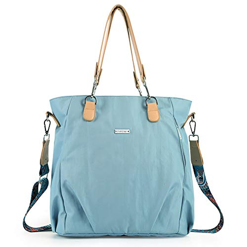 Baby Diaper Bag Waterproof Mummy Bag,Large-Capacity Mommy Handbag (Blue)