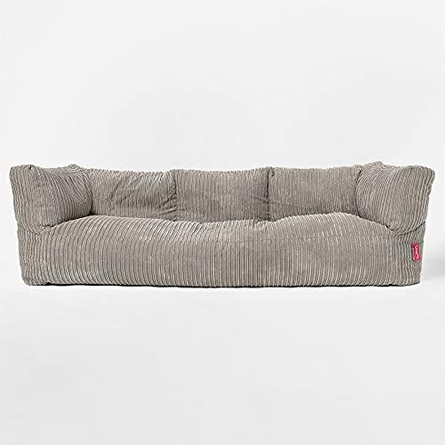 Lounge Pug - Canapé Pouf Géant 3 Places - Côtelé Vison - Albert - Gros Pouf Sofa