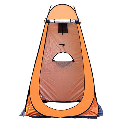 TTlove Camping Toilet Tent Pop Up Shower Privacy Tent for Outdoor Changing Dressing Fishing Bathing Storage Room Tents, Portable with Carrying Bag(B#orange,120X120X190CM)