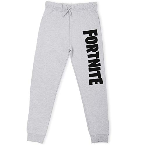 Fortnite Jogginghose Jungen | Sportswear Sport-Jogginghose Sweat Pants in Schwarz, Grau | Modischen Jogginghosen Geschenk Junge für leidenschaftliche Spieler (9/10 Jahre, Grau)