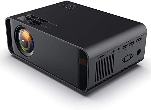 ZOUSHUAIDEDIAN Proyector, proyector de Video HD Proyector de películas al Aire Libre, 200'Soporte de proyector de Cine en casa 1080p, Compatible con Fire TV Stick, PS4, HDMI, VGA, AV y USB, proyector