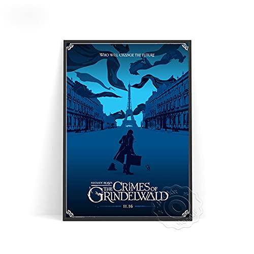 lubenwei Movie Fantastic Beasts Wall Stickers Fantastic Beasts Wall Decor Movie Poster Wall Picture Home Decor (AU-1068) 50x70cm No frame
