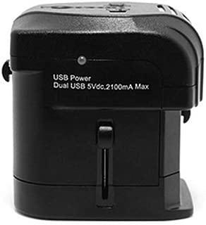 XIMINGJIA-O Power Plug Adapter - International Travel - 2 USB Ports in Over 150 Countries - 100-250 Volt Adapter - (1 Pack) Black International Converter,