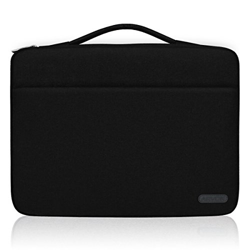 Arvok 15 15.6 16 Inch Water-resistant Canvas Fabric Laptop Sleeve With Handle & Zipper Pocket/Notebook Computer Case/Ultrabook Tablet Briefcase Carrying Bag For Acer/Asus/Dell/Lenovo/HP/Samsung/Sony