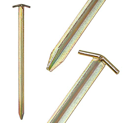 IGEL Sicherheits-T-Eisen-Hering 50cm verzinkt 4/12/25/50er Sets (4)