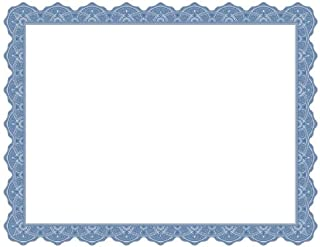 Geographics Optima Blue Certificates w/Gold Foil Seals, Pack of 25, (40725OD)