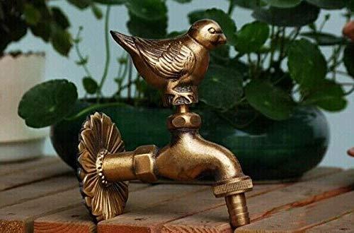 Yaoqingf Wasserhahn E Outdoor Wasserhahn Ländlichen Tierform Garten Mit Antiken Bronze Spatz Vogel Taube Wasserhahn Für Waschmaschine Neu