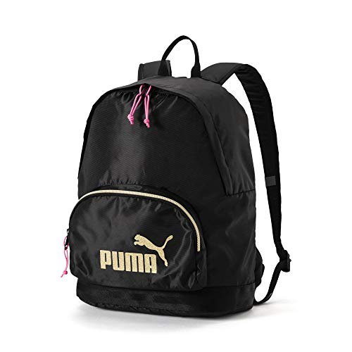 Puma WMN Core Backpack Seasonal Mochila, Color Puma Black-Gold, tamaño Talla única