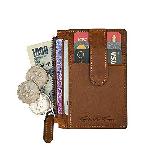 Slim Wallet for Men Women Thin Minimalist Front Pocket RFID Blocking Leather Credit Card Holder Wallet