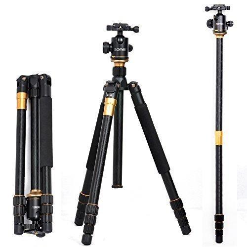 ZOMEi - Trípode de aluminio Q999 SLR para Canon, Nikon, Sony, Samsung, Olympus, Panasonic, etc.