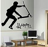 HHZDH Stunt Scooter Wall Transfer Art Sticker Poster Aufkleber 50X79Cm