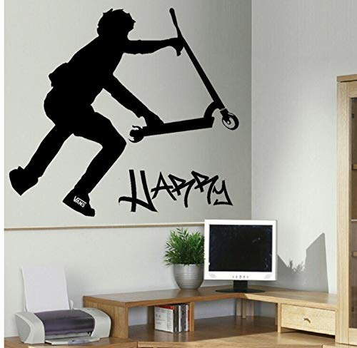 HHZDH Stunt Scooter Wall Transfer Art Sticker Poster Aufkleber 50X79Cm