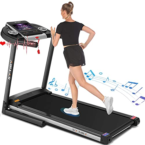 SYTIRY Treadmill with Screen,Treadmills for Home with 10' HD...