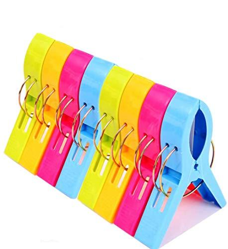 8 Stück Handtuchklammer Hochwertige Kunststoff Clips Strandtuch Clips Windfeste Klammern Starke Towel Clips,für tägliche Wäsche,großes Strandtuch, Dicke Teppich etc.Wäscheklammern
