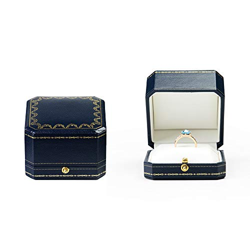 Oirlv Noble EngagementRing Box Jewelry Gift Case Octagonal Ring Bearer Box