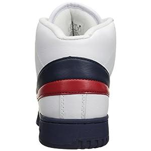 Fila Men's f-13v lea/syn Fashion Sneaker, White Navy Red, 8.5 M US